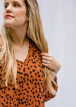 X Toffee Leopard Top
