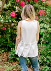 Babydoll Layering Tank in Ivory for the Bump