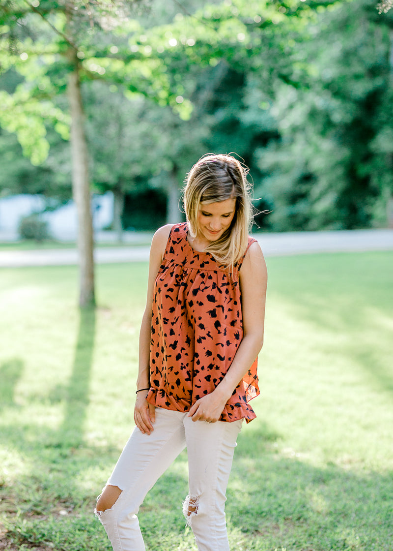 brick tank with abstract dots -  epiphany boutiques