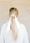 cream long scrunchie - epiphany boutiques