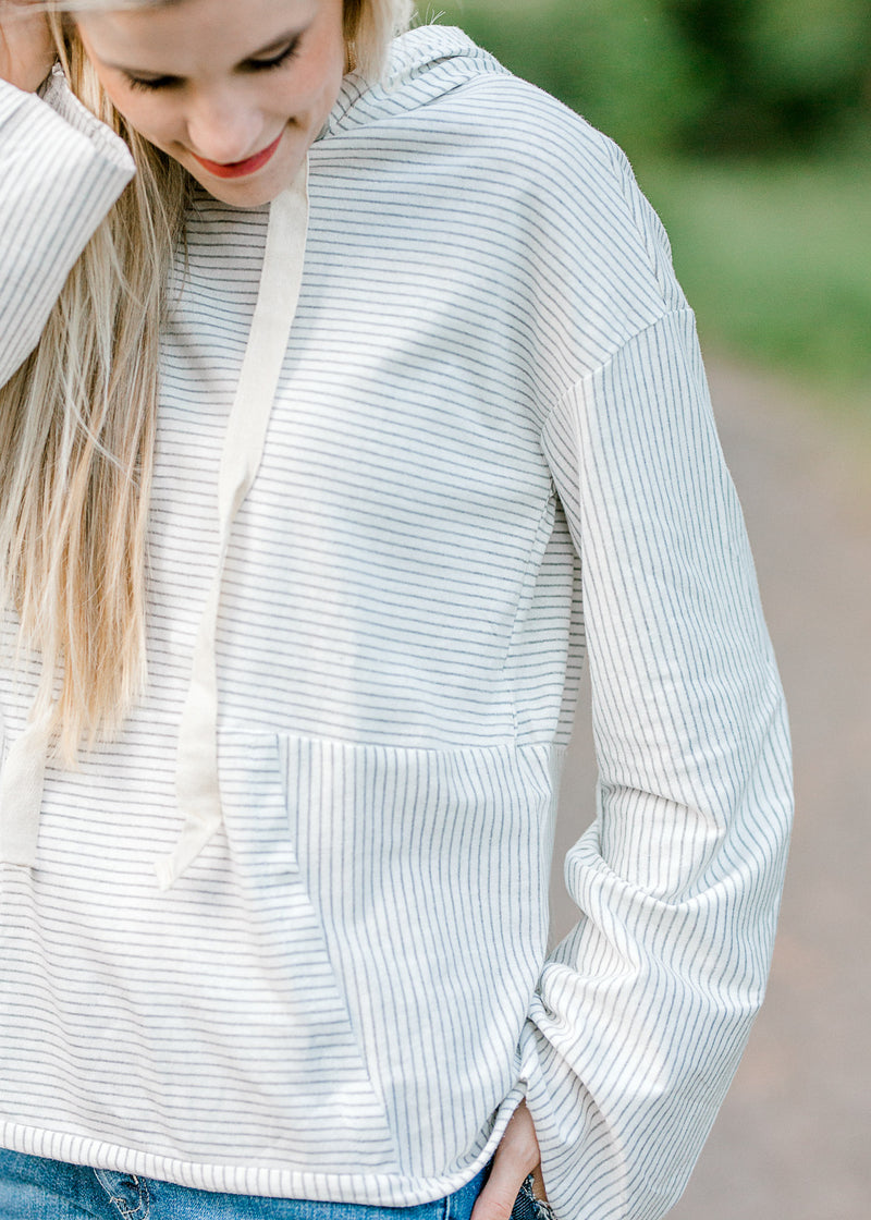 gray and white top - epiphany boutiques