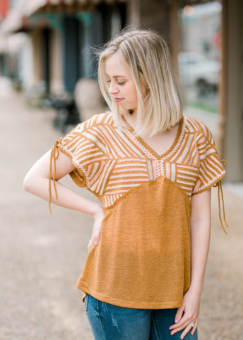 Amber Embroidered Top