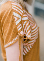 tie detail amber top - epiphany boutiques