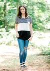 black and white color block top - epiphany boutiques