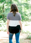 top with black and white stripes - epiphany boutiques