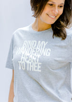 X Heather Gray Bind My Wandering Heart Tee