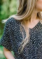 black top with white dots - epiphany boutiques