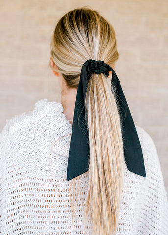 Black Bandana Scrunchie