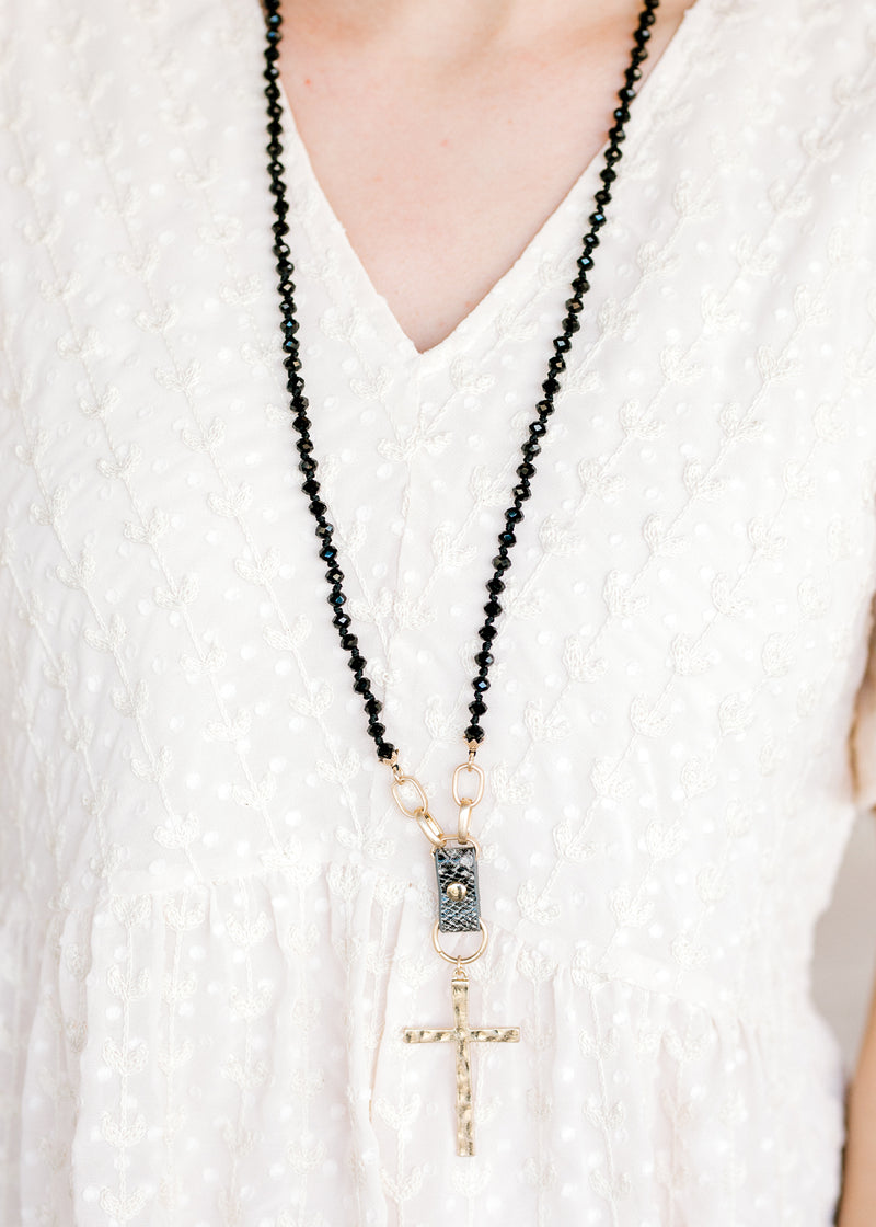necklace with cross - epiphany boutiques