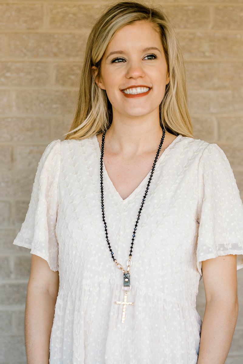black beaded necklace - epiphany boutiques