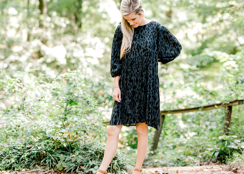 black animal print dress -  epiphany boutiques