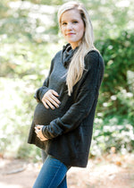 Black Sweater Love for the Bump