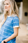 blue top with white edging - epiphany boutiques