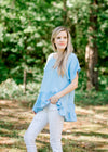 blue tiered top - epiphany boutiques
