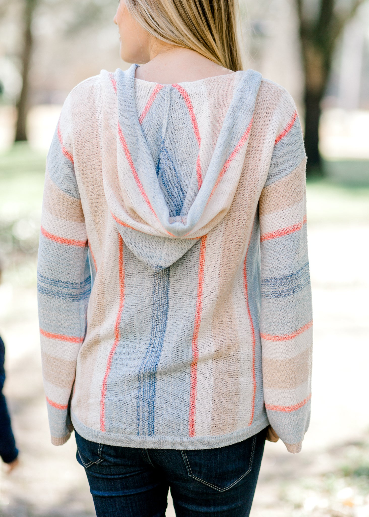 Blue Ways Striped Hoodie Sweater – Epiphany Boutiques 33ade74d5