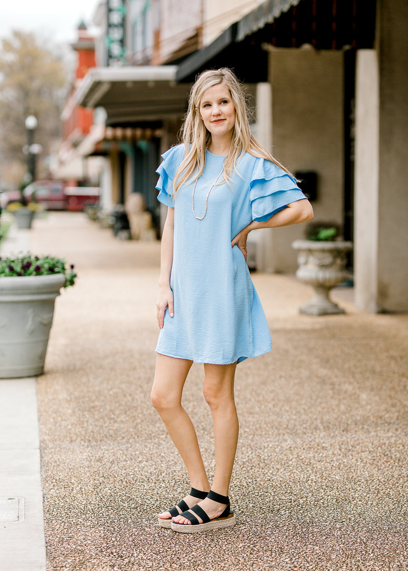 baby blue dress - epiphany boutiques