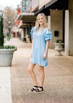 baby blue shift dress - epiphany boutiques