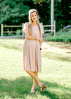 short sleeve blush dress - epiphany boutiques