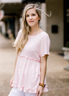 cotton candy pink colored top - epiphany boutiques