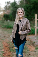 leather snakeskin jacket - epiphany boutiques