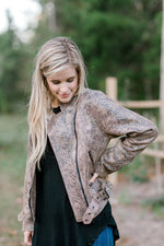 snakeskin long sleeve jacket - epiphany boutiques