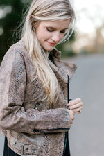long sleeve jacket with exposed zipper - epiphany boutiques