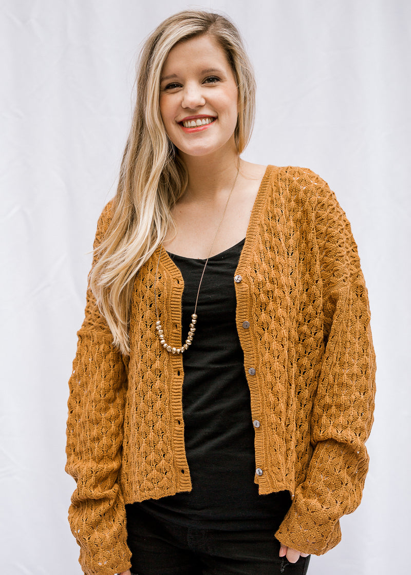 bronze sweater with Suttons - epiphany boutiques