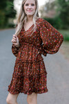 long sleeve tiered dress - epiphany boutiques