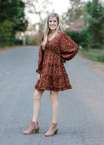 above the knee brown dress - epiphany boutiques
