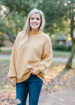 burnt butter sweater - epiphany boutiques