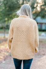 cable knit mustard sweater - epiphany boutiques