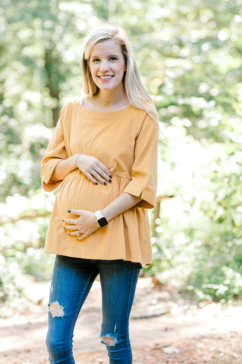 Butterscotch Corduroy Top for the Bump