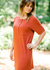 short sleeve dress with buttons - epiphany boutiques