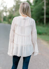 tiered top back view - epiphany boutiques