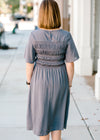 charcoal midi dress - epiphany boutiques
