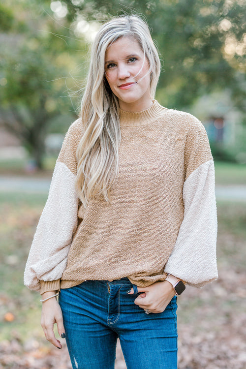 bubble sleeve sweater - epiphany boutiques