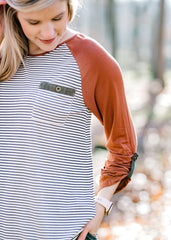 Cinnamon Striped Top