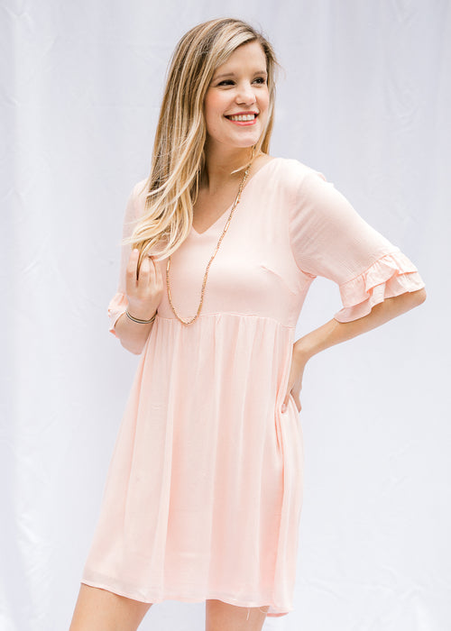 soft pink dress - epiphany boutiques