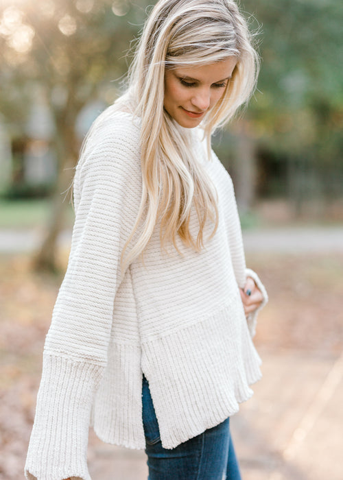 cream sweater - epiphany boutiques