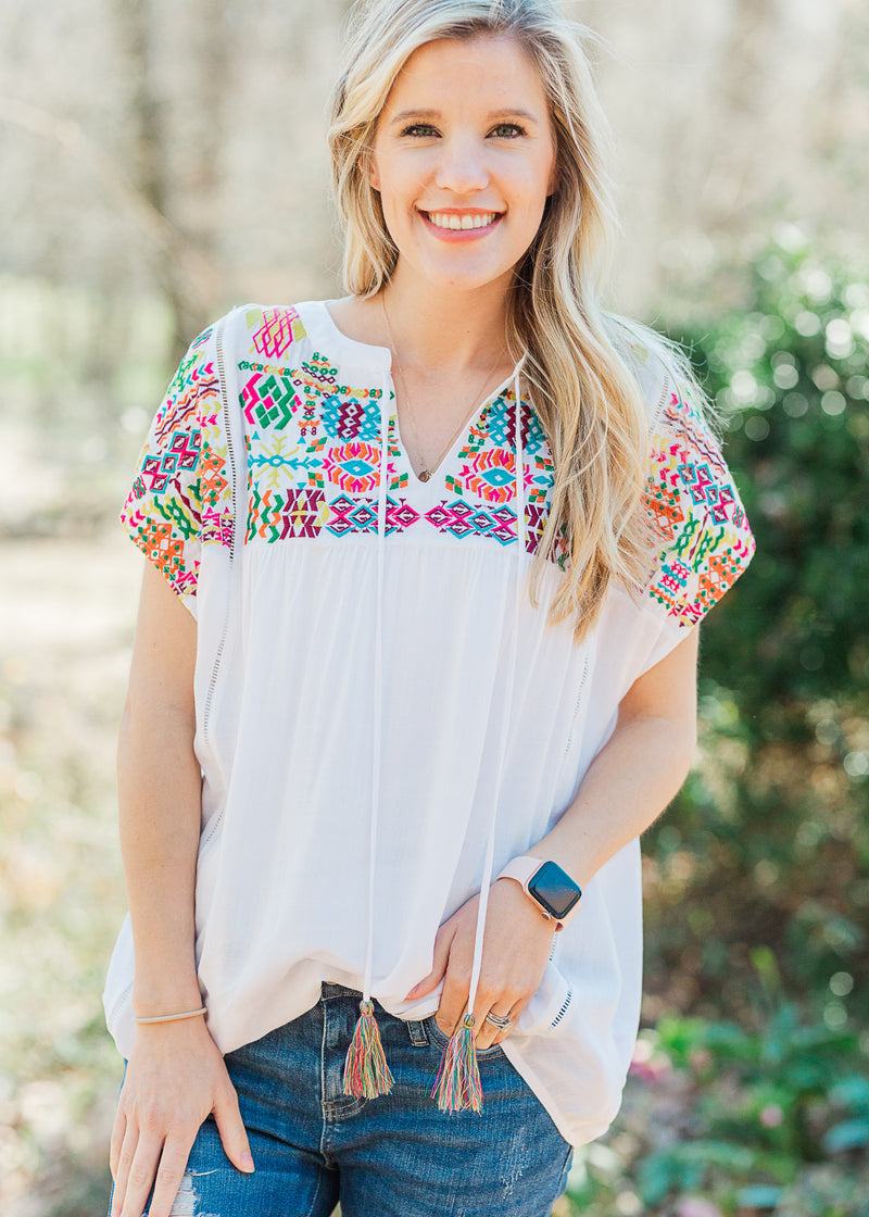 Color Me Embroidered Top for the Bump