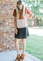 color block sweater dress - epiphany boutiques