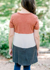 color block dress back view - epiphany boutiques