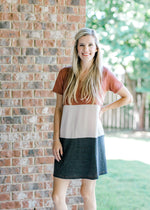 color block dress - epiphany boutiques