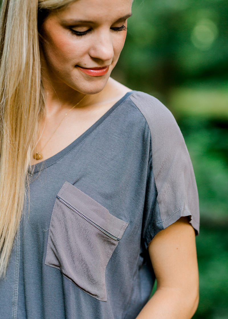 pocket with zipper detail - epiphany boutiques