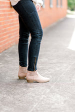 black leggings with zipper - epiphany boutiques