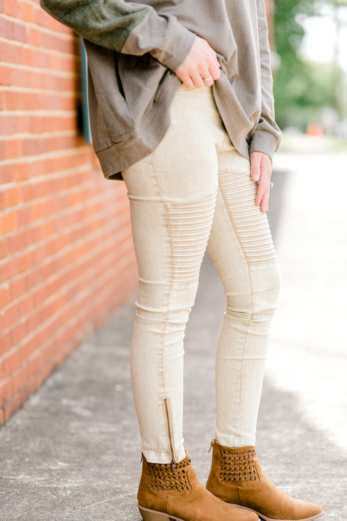 taupe leggings - epiphany boutiques