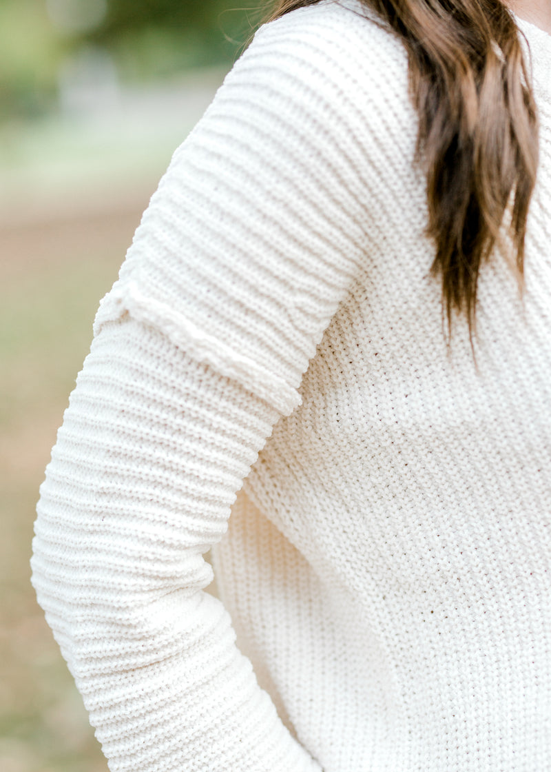 X Cozy Cream Cable Sweater for the Bump