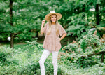 blush pink and brown top - epiphany boutiques