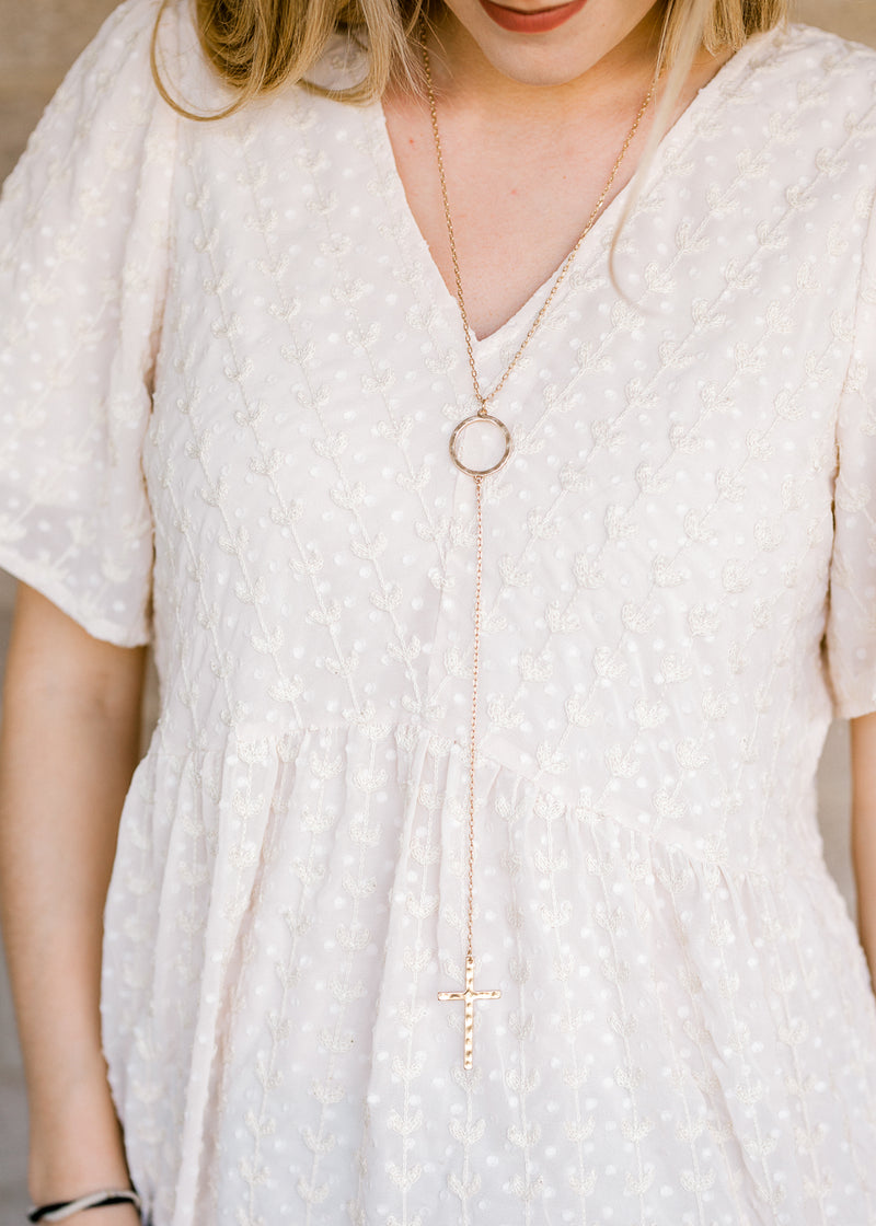 gold cross necklace - epiphany boutiques