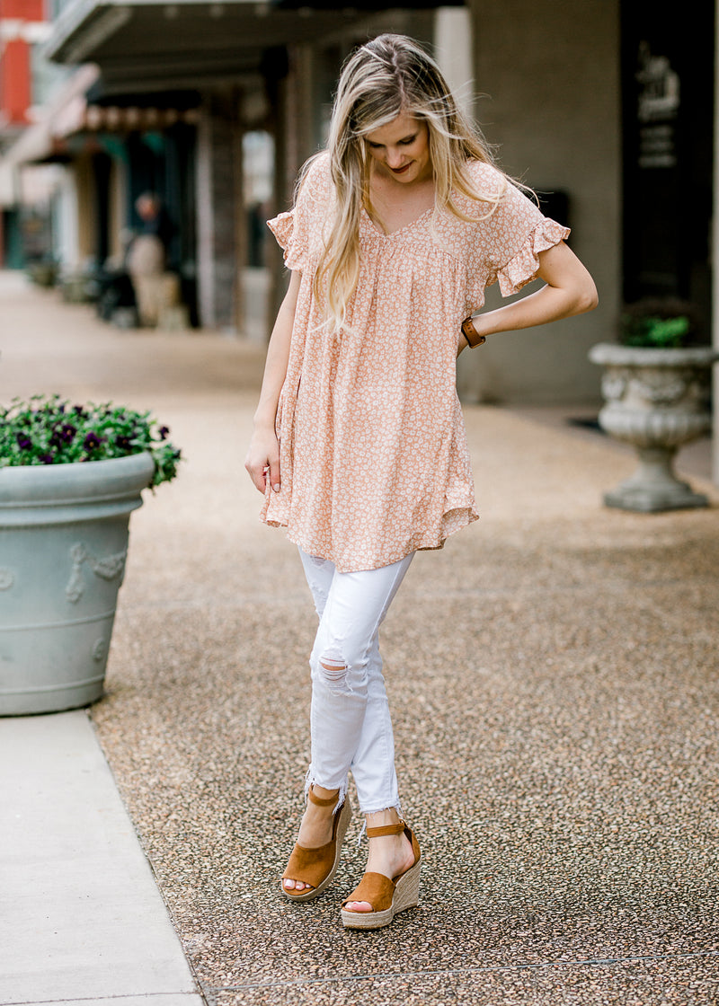 pale coral tunic top - epiphany boutiques